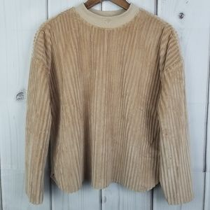 NWT Alice Blue Tan Sweater Top Sz M